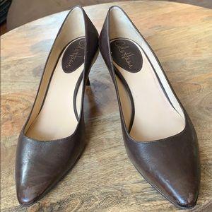 Cole Haan Espresso Brown kitten heels